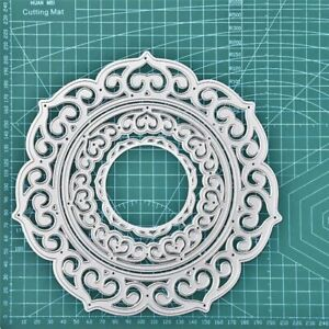 Metal Cutting Dies Lace Round Frame Diy Etched Dies Crafts For Paper Card Making