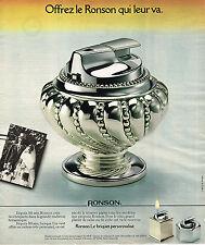 PUBLICITE ADVERTISING 124  1977  RONSON   briquet