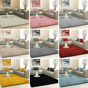 SHAGGY RUG 5cm HIGH PILE SMALL EXTRA LARGE THICK SOFT LIVING ROOM FLOOR BEDROOM