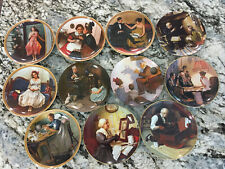 Norman Rockwell Collector Plates Lot of 11 Limited Edition Vintage Knowles