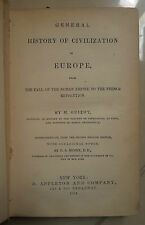 GENERAL HISTORY OF CIVILIZATION FRENCH REVOLUTION RIVOLUZIONE FRANCESE 1874
