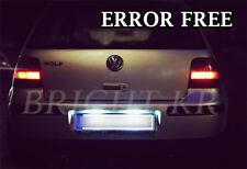 VW GOLF MK4 MK5 IV V SDI TDI LED License Number Plate Light Bulbs ERROR FREE