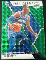 2019-20 RJ Barrett / Panini Mosaic / Green Prizm NBA Debut #270 🔥 NY Knicks 🔥