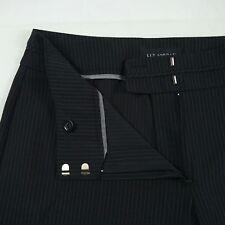 LIZ JORDAN Stretch Straight Leg Black Pinstripe Business Pants Women's Size 10