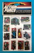 VINTAGE JOTASTAR HASBRO ACTION FORCE G.I.JOE GLITTER PUFFY STICKERS CARD RARE