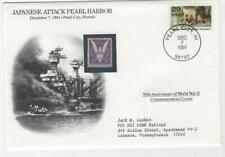 """5-1/2 X 7"""" 50th Anniversary of the Japanese attack on Pearl Harbor cover"""