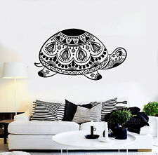 Vinyl Wall Decal Turtle Tribal Animal Ornament Stickers Mural (ig4409)