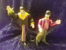 Large Joint Flexible Beatles yellow submarine figurines of John Lennon and Ringo