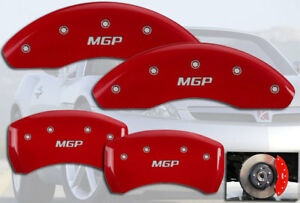"""2003-2006 Saturn Ion Front + Rear Red """"MGP"""" Brake Disc Caliper Covers 4pc Set"""