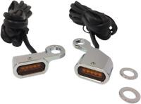 Eagle Lights SLIMLINE Chrome LED Undermount Turn Signal Lights for Harley