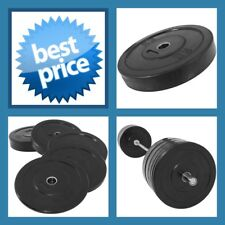 BLACK 20KG A-GRADE CLUB Series Olympic  Size  RUBBER BUMPER  GYM WEIGHT PLATE