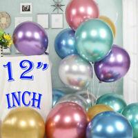 "10 /50 CHROME BALLOONS METALLIC LATEX PEARL 12"" Helium Baloon Birthday Party"