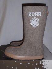 ZDAR Katharina Wool Felt Handmade Winter Boots Natural US10 EU40 MSRP $329 NIB