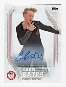 2018 Topps USA Olympic Team Autographs US48 Evan Bates Figure Skating 22/60