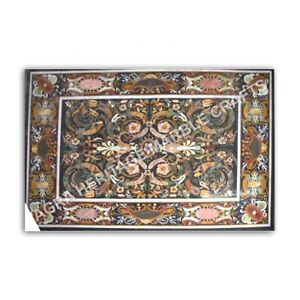 5'x4' Collectible Marble Dining Table Top Inlaid Design Living Room Decor E984
