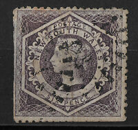 QV New South Wales-1860-Six Pence Large Used Australia
