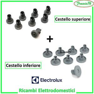Kit Ruote Cesto Cestello per Lavastoviglie Superiore e Inferiore Rex Electrolux