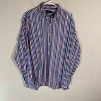 Men's Ralph Lauren Purple Label Multicolor Dress Shirt Italy L