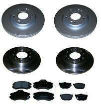 HYUNDAI COUPE 2002-2010 1.6 2.0 2.7 FRONT AND REAR BRAKE DISCS AND PADS SET