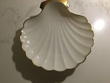 Lenox China Scalloped Shell Dish 24K Gold New