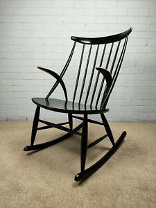 Vintage Mid Century Rocking Chair by Illum Wikkelsø for Niels Eilersen