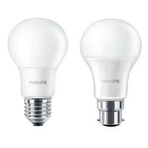 Packs of Philips LED GLS B22 or E27 Light Bulbs 5.5w / 8w / 11w / 13w - 240v