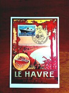 """CARTE POSTALE EN SOUVENIR DU PAQUEBOT """"FRANCE"""" 26/27 JANVIER 1980"""