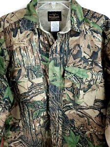Deerskin Melton Shirt Co camo Shirt Mens size Medium flannel chamois realtree