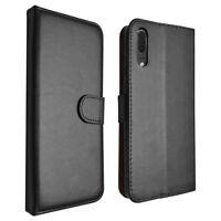 SDTEK Huawei P20 (Black) Coque Housse Portefeuille Etui Cuir Flip