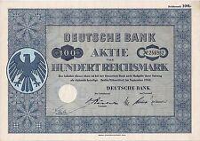 Lot 10 x Deutsche Bank Berlin Düsseldorf ungelochte hist. Aktien 1952 + Kupons