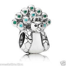 New  Authentic Pandora Charm 791227MCZ Peacock Bead Box Included