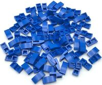 Lego 50 New Blue Slope Curved 2 x 1 Sloped Pieces