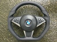 BMW M5 M6 E60 E61 E63 E64 PRE LCI NEW CUSTOM MADE FLAT BOTTOM  STEERING WHEEL