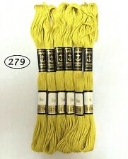 6 Anchor cotton stranded floss / skeins embroidery thread - 8m Light solid color