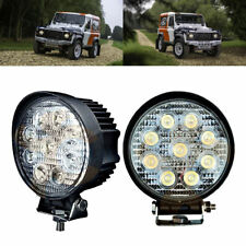 2x 4inch SPOT Led Work Light Bar Tractor Truck Offroad Jeep UTE 4WD 27W 12V 24V