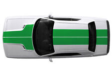 Vinyl Graphics Decal T-Hood Roof Trunk Wrap Kit for Dodge Challenger 08-13 GREEN