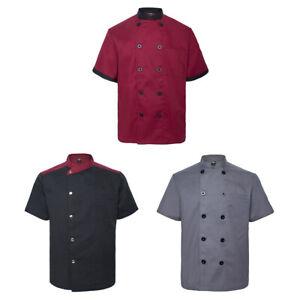 3x Lot TopTie Short Sleeve Chef Coat Jacket Pack Unisex Kitchen Cook Uniform