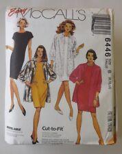 McCall's 6446 Sewing Pattern Misses' Shirt-Jacket & Shift Dress VTG U-Pick Size