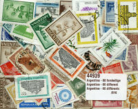 Argentina Collection of 60 Different Stamps Argentine Timbres Briefmarken