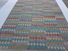 9'6x6'9 All-Over Handmade Turkish Kilim Wool Rug Tribal Kelim Carpet Tapis #8144