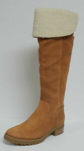 """MICHAEL KORS """"WHITAKER"""" TALL BOOT """"LUGGAGE"""" TAN SUEDE LEATHER KNEE HIGH SIZE 7"""