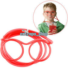 CRAZY FUNKY DRINKING STRAW GLASSES -CLEAR COLORFUL -PARTY FILLER -DRINKING GAMES