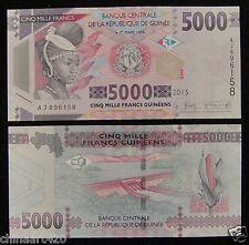 AFRICA GUINEA 5000 FRANCS Banknote 2015 UNC