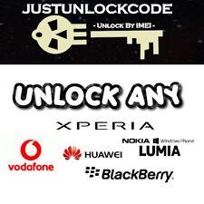 Sony XPeria L1 E5 XZ1 Compact XA1 XZ1 COMPACT PREMIUM X2 Vodafone UK Unlock Code
