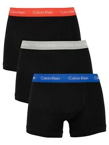 Calvin Klein 100% Authentic Men's Boxer Shorts Trunks- Royalty/Grey/Exotic Coral