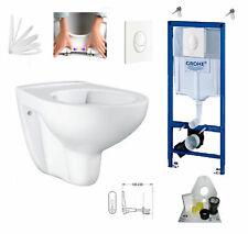 Grohe Vorwandelement mit Grohe WC spülrandlos mit Beschichtung, Komplettset