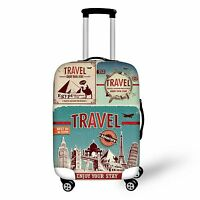 """26"""" 28"""" Spandex Elastic Travel Fashion Luggage Suitcase Covers Protector Size L"""