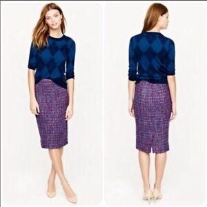 J. Crew No. 2 Pencil Wool Blend Tweed Skirt NWT Size 4P