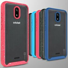 For AT&T Radiant Core / Cricket Icon Case Full Body Military Clear Phone Cover