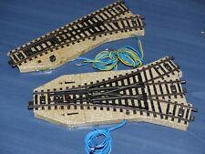 2x Märklin M-Gleis elektr. Weiche: 5214 Dreiwegweiche, 5202/5221 Weiche rechts